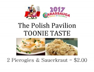 Poland Toonie Taste -Pierogi and Sauerkraut