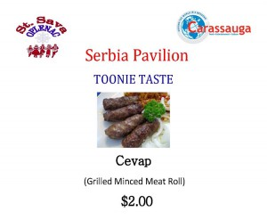 Serbia - Toonie Taste