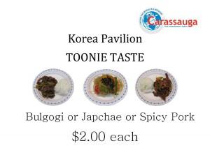Korea Toonie Taste